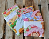 Strawberry Shortcake VALENTINE - recycled book pages into envelopes