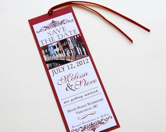 Consider Yourself Booked Save the Date Bookmark DIGITAL