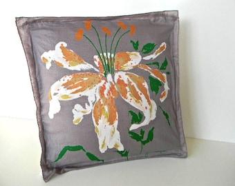 vintage home decor floral orchid pillow cover