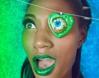 Eye Candy - GREEN bling Pendant