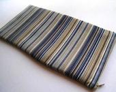 Stripes Gray & Blue - Apple Magic Keyboard Sleeve, Apple Keyboard Case, Samsung Wireless Keyboard Sleeve - Padded and Zipper Closure