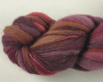 Handspun Art Yarn - Thick and Thin - Targhee Wool - 100 yds