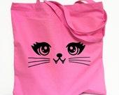 CAT Tote Bag - Kitty Vampire Pink Totebag