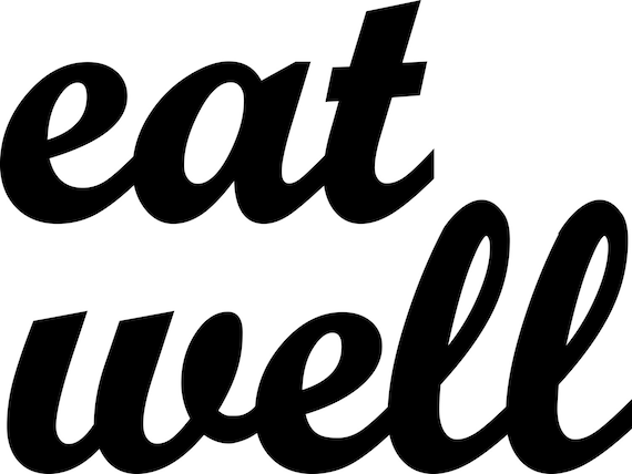 eat well handmade wood signs