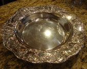 Wallace Silver Plate Silverplate Hollowware Deep Serving Platter in the Grand Victorian Pattern Wedding TYCAALAK