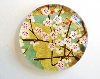 Jade Green Cherry Blossom Paperweight