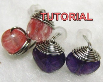 WIRE JEWELRY TUTORIAL - Top Wrapped Stud Earrings