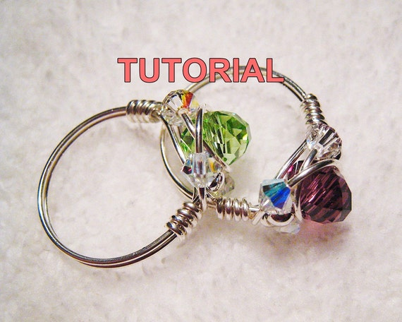 WIRE JEWELRY TUTORIAL-Wire Wrapped Sparkly Crystal Ring