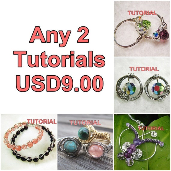 WIRE JEWELRY TUTORIAL Package - Any 2 Tutorials for USD9
