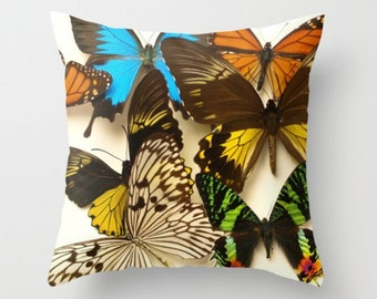 Butterfly Pillow Cover Butterfly Pillow Natural History Sweet Things Butterfly Photograph Spring Pillow Woodland Finds Forest Creature