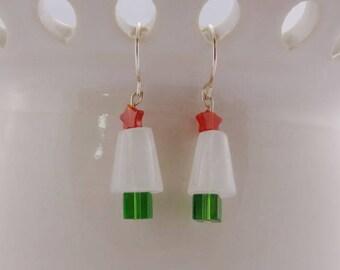 Christmas Tree Earrings-Gift Idea-Christmas Gift Idea-Valentine Gift Idea - Valentines Day - Valentine