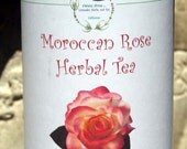 Moroccan Rose Herbal Tea, Tea, Tisane, Tea in Tin, Gift Tea, Loose Tea, Caffeine Free, Sugar Free