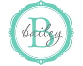 Monogram Wall Decal - Bailey Frame with Name and Initial - Personalize His or Her Space in their favorite colors