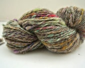 Sukoshi: V'Ger // eco-ethical mixed natural fiber handspun, hand dyed fine gauge art yarn in grey, plum, pinks & green
