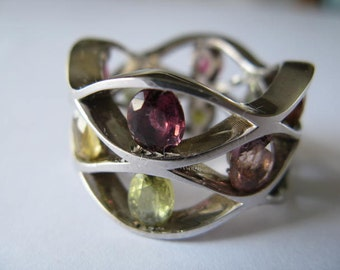 Exceptional White Gold Tourmaline Ring