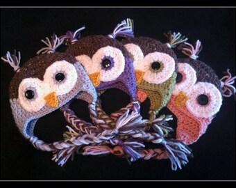 Owl Baby Hat - choose color & size