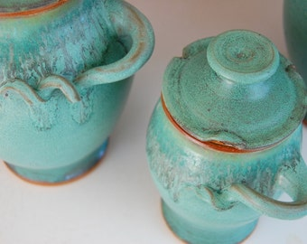 Small Kitchen Canister in Turquoise- Made to Order