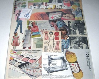 Sewing Ephemera Pack 65 Pieces of Vintage Ephemera for Altered Art