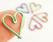 1 Heart - 16 gauge Niobium Heart Piercing - Hypo Allergenic - You Pick Color