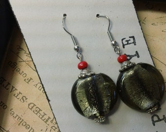 Mita -grey glass earrings