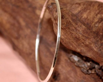 Sterling Silver Textured Bangle 2 mm