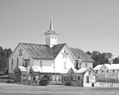 Barn Photograph, Star Barm, Wall Art, Sepia Print, Black and White, Landscape Photo, Historic Barn, Pennsylvania, Rural America