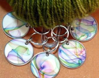 STITCHMARKERS for KNITTERS or CROCHETERS Silken Rainbows