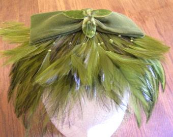 Vintage Mr John Caprice Hat Fascinator with Veil