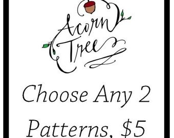 Choose any 2 crochet patterns