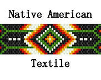Peyote Pattern Native American Textile Geometric Bracelet Hat Band Belt Blanket Inspired Digital PDF File 2 Drop Peyote