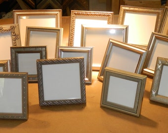 20 Small SILVER Frames for Wedding Party Favors Bridesmaids Gifts Bridal Shower