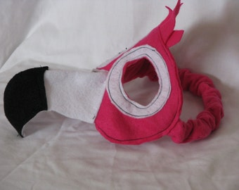 pink flamingo kids felt mask