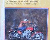 Clymer Kawasaki 1000 1100cc Fours Motorcycle Service Repair Manual 1981 to 1984
