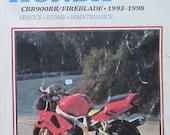 Clymer Honda CBR 900RR Fireblade Motorcycle Shop Service Repair Manual 1993 1998