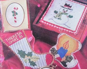 Vintage Cross Stitch Christmas Ornament Pattern Book