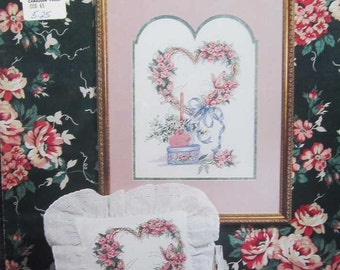 Heart Of Roses Cross Stitch Pattern