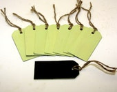 Chalkboard Tag Wood Green With Jute Wedding Table Numbers Organization Set of 8