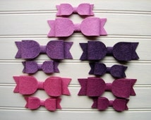 Wool Felt Bows - Vineyard Collection Bows - Set 10