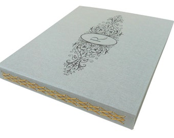 monogram filagree frame guestbook (10x12)