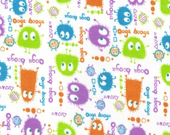 EASTER EGG Ooga Booga, Cotton Interlock Knit Fabric, FQ
