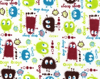 EARTH Ooga Booga, Cotton Interlock Knit Fabric, FQ 18x30 inches