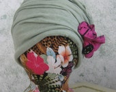 Womens Hat Pattern Upcycled Cloche Summer Fabric With Flower Trim Instant Download