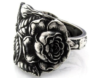 Watson Rose Art Nouveau Spoon Ring Sterling Silver