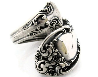 Size 5 to 9 Meet Melrose The Sterling Silver Spoon Ring From 1948 Wrapped Adjustable