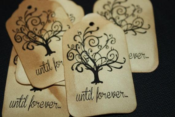 100 Until Forever Wedding Favor Tags