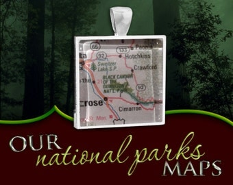 Black Canyon of the Gunnison National Park Map Pendant