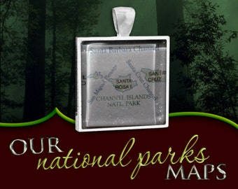Channel Islands National Park Map Pendant