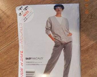 McCalls Cardigan and Pants Pattern Size A Extra Small-Small Stretch Knits