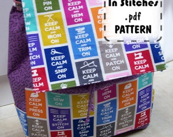 Carryall Kate PDF Sewing Pattern - Large Backpack Satchel EASY DIY Instructions Tutorial