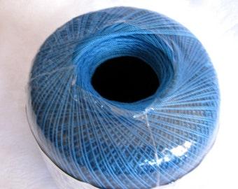 Aunt Lydias Classic Crochet Cotton Thread, BLUE HAWAII, size 10, Royal blue thread